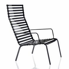 Striped Poltroncina niedriger Armlehnenstuhl mit hoher Rückenlehne - Magis - Ronan & Erwan Bouroullec Gartenliege