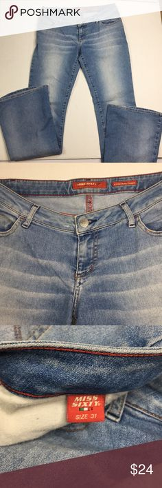 91e35025408d69 Miss Sixty Extra Low Tommy. flares. Sz 31 Good In good condition Prewashed  Soft