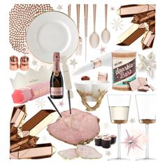 pink & rose gold by cutandpaste