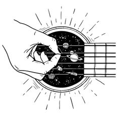 """Rad illustration by if you would like to be featured"""" Music Drawings, Tattoo Drawings, Drawing Sketches, Art Drawings, Galaxy Drawings, Abstract Sketches, Space Drawings, Unique Drawings, Drawing Quotes"""