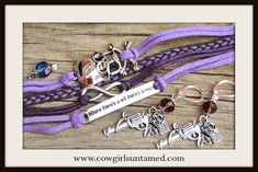"""COWGIRL GYPSY EARRINGS SET Antique Silver Skull n """"Where There's a Will There's A Way"""" Purple Leather Bracelet Earring SET  #skull #pistol #western #cowgirl #jewelry #crystal #leather #quote #wheretheresawilltheresaway #women #bracelet #earrings #set #wildwest #ombre #style #onlineshopping #wholesale #beautiful #handmade #boutique"""