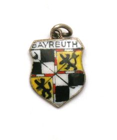 Bayreuth Germany Coat of Arms Enamel Travel Shield Vintage 800 Silver Bracelet Charm by SterlingRevival on Etsy