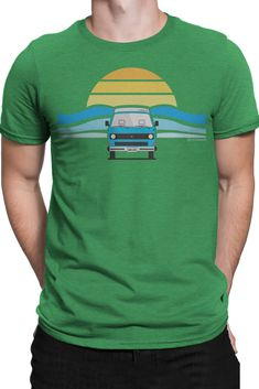 This super comfy wicking triblend Van Life t-shirt was inspired by the joys of van life and living on the road in our 89' Westy. #vanlife #tshirt #tee #van #westfalia #vanagon #roadtrips #giftideas #cloudline