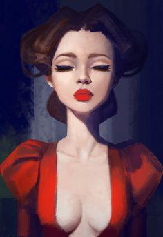 Portrait_Study, Anna Maystrenko on ArtStation at https://www.artstation.com/artwork/n0lPK