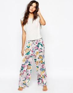 Minkpink Bed Time Blooms Trousers