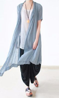 light blue casual linen cardigans plus size stylish sundress short sleeve shirt dress