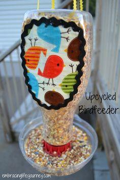 Upcycled Birdfeeder Tutorial #DIY