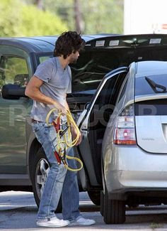 Adrien Grenier and his Toyota Prius. http://www.toyotaofplano.com