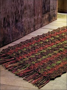 Autumn Woods Rug - Crochet