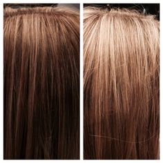 Beautiful, blended foils. Honey, caramel, blonde, brown, milk chocolate, toffee, vanilla latte, chestnut hair color tones and shades. TIGI creative color.