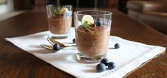 Delicious and healthy banana chocolate mousse