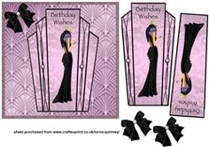 Deco Lady 2 Card Front on Craftsuprint - View Now!