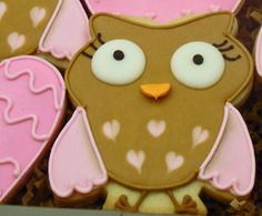Owl cookie created by the Flour Box Bakery using my Funky owl cookie cutter: http://www.lindyscakes.co.uk/shop/Funky-Owl-Cookie-Cutter-Lindy-s.html