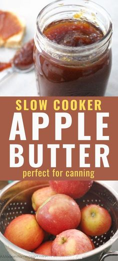 This crockpot apple butter recipe is a wonderful treat during the fall! And with these instructions for how to can apple butter you'll be able to enjoy it all year round! Canning Apple Pie Filling, Apple Butter Canning, Canning Apples, Homemade Apple Butter, Freezer Jam Recipes, Canning Recipes, Apple Recipes, Fall Recipes, Great Recipes