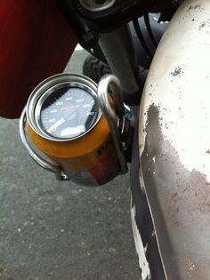 Speedometer support | Disguised as can in can holder |