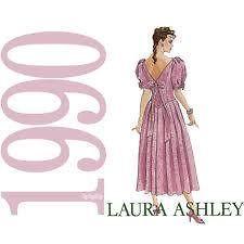 McCalls 4840 Vintage Laura Ashley Dress Pattern Misses sz 8 OOP Used Cut Complet