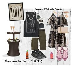 """We're here for the party. Summer grilling out with friends"" by tori-holbrook-th on Polyvore featuring NLXL, Hatcher & Ethan, Miss Selfridge, Diane Von Furstenberg, Topman, Alexander McQueen, Aéropostale, NIKE, BOSS Hugo Boss and G-Shock"