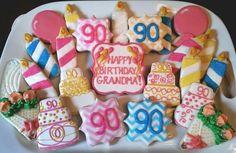 90th birthday cookies!