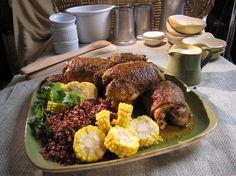 Peruvian Baked Chicken Thighs (Sara Moulton's take on Peruvian Rotisserie Chicken)