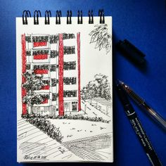 red #mekaworks #urbansketch