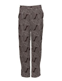 DAY - Rhyss All-over graphic pattern Concealed closure Side pockets Slight pleating Relaxed fit Chic Elegant Modern Pants Trousers Graphic Patterns, Trousers, Pants, Closure, Pockets, Elegant, Chic, Day, Modern