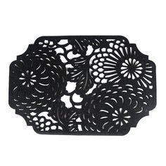 Rectangular Floral placemats from Gourmet Settings are felt placemats that are beautifully intricate works of art for your dinner table - inspired by traditional Japanese floral prints that add flair and elegance to any table setting and very easy to clean.
