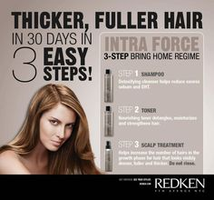 Redken Intra Force Thicker Fuller Hair in 30 days
