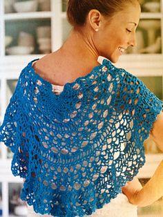 Sea Breeze Shawlette crocheted in Saucon Sock from Kraemer Yarns