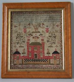 1821 House Sampler by Mary Hassack | Madelena