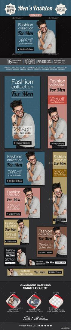 Fashion for Men Web Banners Template PSD | Buy and Download: http://graphicriver.net/item/fashion-for-men-banners/9153048?WT.ac=category_thumb&WT.z_author=doto&ref=ksioks