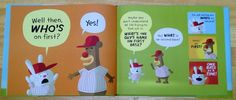 "If the library doesn't get this soon I'll have to request it.     Abbott & Costello's classic ""who's on first?"" routine wonderfully retold in a children's book - Boing Boing"