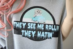 Items similar to They See Me Rollin - Cat Sweater on Etsy They See Me Rollin, Cat Sweaters, Jumpers, My Favorite Things, Trending Outfits, Medium, Cats, Grey, Unique Jewelry