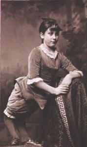 """Ella Harper (born in Tennessee in 1873), known as the """"Camel Girl"""", was born with an orthopedic condition that caused her knees to bend backwards, called congenital genu recurvatum. This deformity is very rare. Her preference to walk on all fours resulted in her nickname """"Camel Girl"""". In 1886 she was featured as the star in W. H. Harris's Nickel Plate Circus, appearing in newspapers wherever the circus visited."""