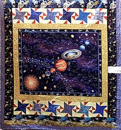 Swinging arm quilt rack wood magazine september 2012 for Outer space quilt patterns