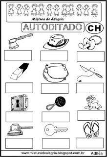 Autoditado para alfabetização com ch