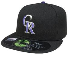 a5c07f0acad75 New Era MLB Colorado Rockies Game AC On Field 59Fifty Fitted Cap