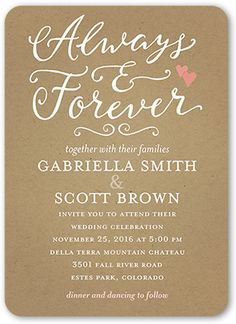 Forever Hearts Wedding Invitation