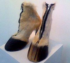 Hoof High Heels!! Haha let's use moose hoofs!!