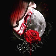 WALLPAPERS - Gothic, skulls, death, fantasy, erotic and animals: Walls Vampire Love, Female Vampire, Gothic Vampire, Vampire Art, Gothic Horror, Gothic Art, Horror Art, Vampire Pictures, Gothic Pictures
