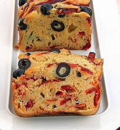 Cake peppers, olives and pecorino cheese - or path ® Loaf Recipes, Greek Recipes, Dessert Recipes, Cooking Recipes, Desserts, Sweet Loaf Recipe, Healthy School Snacks, Cooking Cake, Food Menu