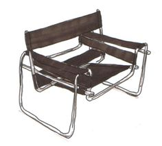 """Marcel Breuer""""Wassily chair""""1925-26♥. I've seen a few of these, didnt know what I was looking at"""