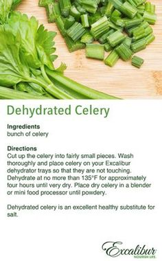 August Adventures Recipe #2 with Excalibur Dehydrators - Dehydrated Celery!