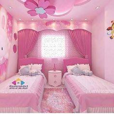 Pembeye bogayım mı sizi 🤭😂 zevkler ve renkler tartısılmaz tabi ki ama bu biraz fazla sanki 🙈 . Kids Bedroom Designs, Room Design Bedroom, Kids Room Design, Small Room Bedroom, Girls Bedroom, Bedroom Decor, Bed Room, Little Girl Bedrooms, Pink Bedrooms