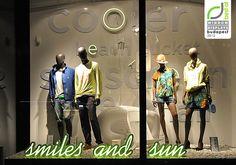 Pull & Bear window displays Summer 2012, Budapest visual merchandising