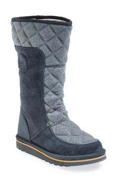 Free shipping and returns on SOREL 'Campus' Water Resistant Tall Boot (Women) at Nordstrom.com. A water-resistant suede boot with a soft, quilted back panel is perfect for traipsing through the snow on the way to class, while plush fleece lining keeps feet toasty warm.