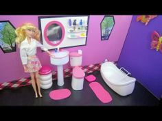 """How to Make a Doll Bathroom Pedestal Sink that """"really works""""  - Recycled"""