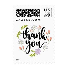 #wedding #thankyoucards - #Floral Thank You Purple Pink Watercolor Flowers Postage