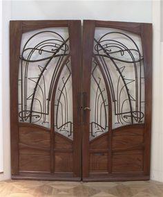 Porte à deux vantaux Guimard Hector (1867-1942) ,  architecte, décorateur
