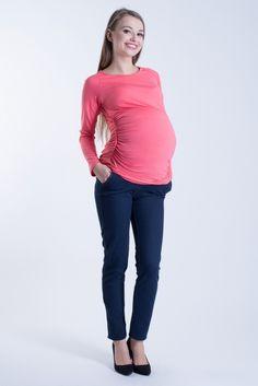 Tmavě modré těhotenské jeansy s pásem Capri Pants, Fashion, Moda, Capri Trousers, Fashion Styles, Fashion Illustrations