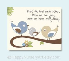 Children room wall art birds nursery decoration by HappyNurseryArt, $15.00